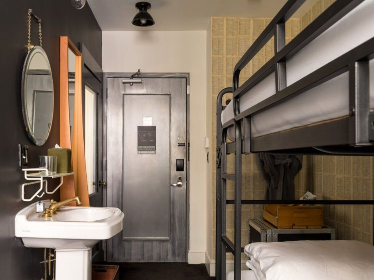 Ace Hotel New York City, bunkbed guest room