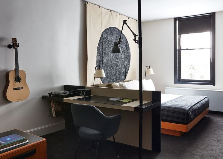 Ace Hotel New York City, double bed guest room