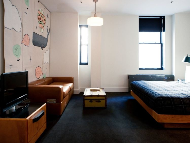 Ace Hotel New York City, king bed guest room