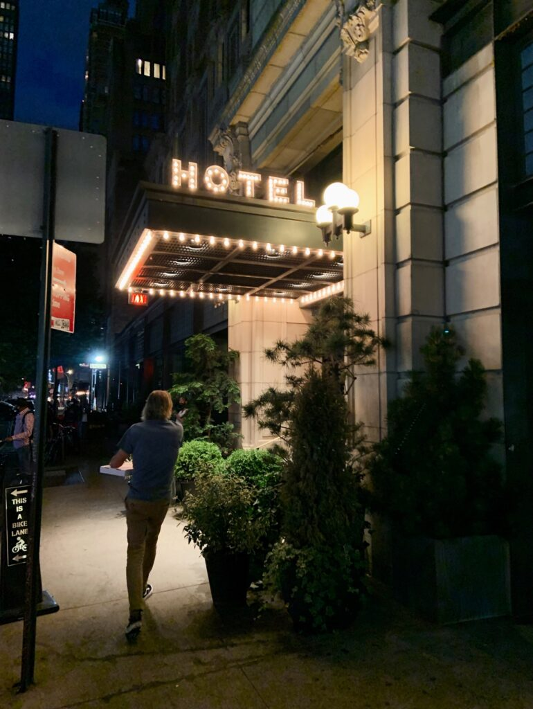 Ace Hotel New York City, exterior at night