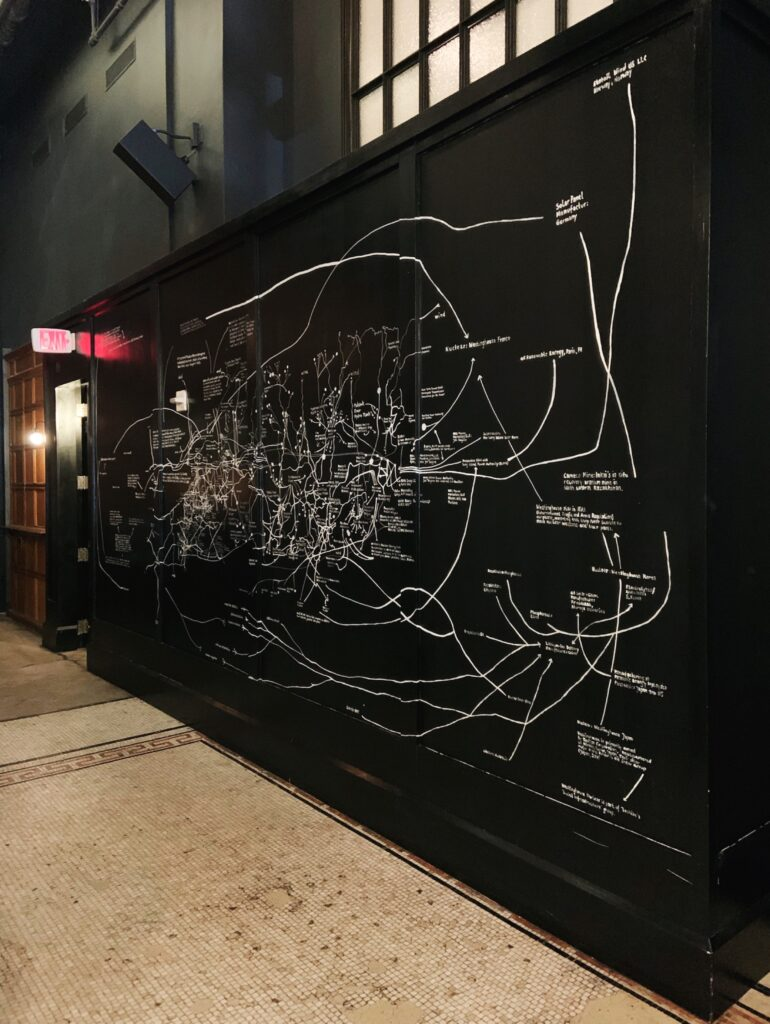 Ace Hotel New York City, black wall with white writing