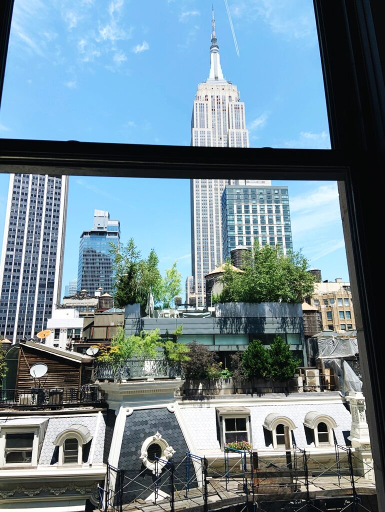 Ace Hotel New York City, our guest room view of the Empire State Building
